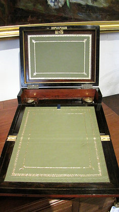 VICTORIAN LADIES TRAVELLING WRITING JEWELLERY BOX