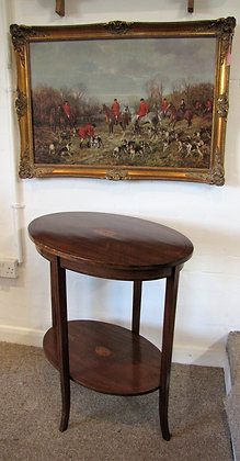 EDWARDIAN OVAL INLAID TABLE