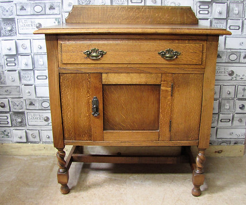 Oak cupboard washstand