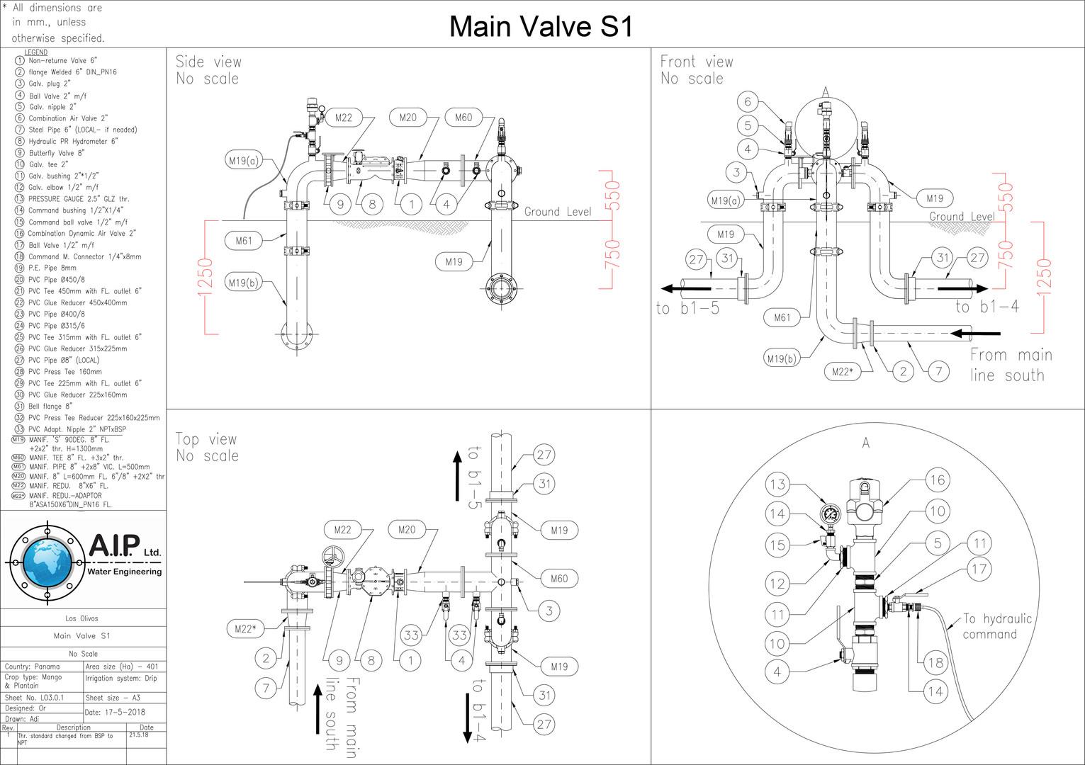 Drip Irrigation Main Valve