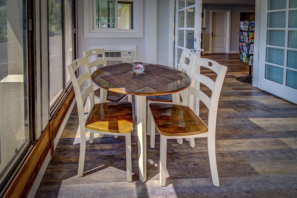 Best Continental Breakfast in Pagosa Springs at RiverWalk Inn - sit in our Sunroom!