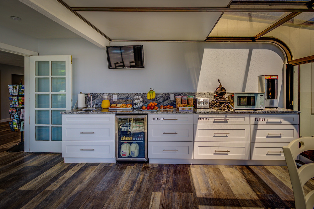 Best Continental Breakfast in Pagosa Springs at RiverWalk Inn - our breakfast area is fully stocked!