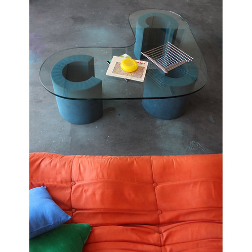 Vintage Boomerang Glass Coffee Table