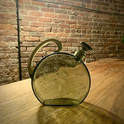 Deco Etched Decanter