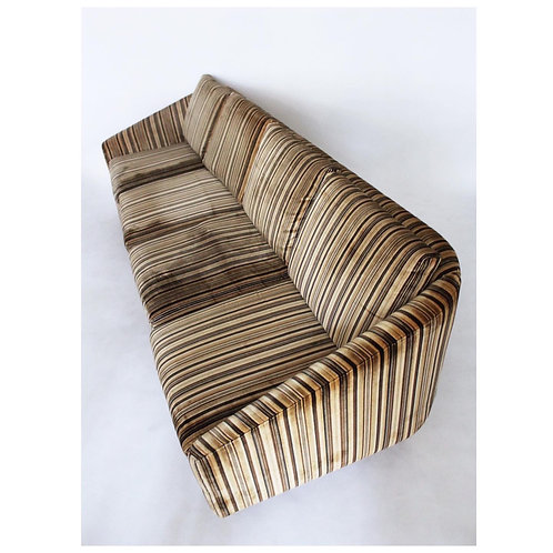 Vintage Striped Velvet Sofa