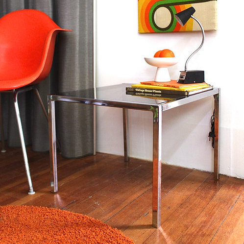 Discounted Chrome Side Table