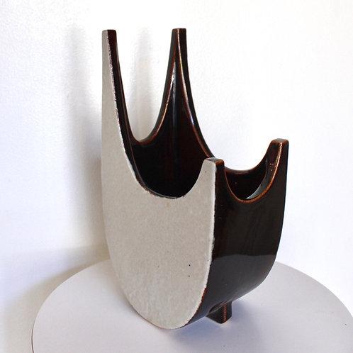 Mid Century Ikebana Vessel-Horned