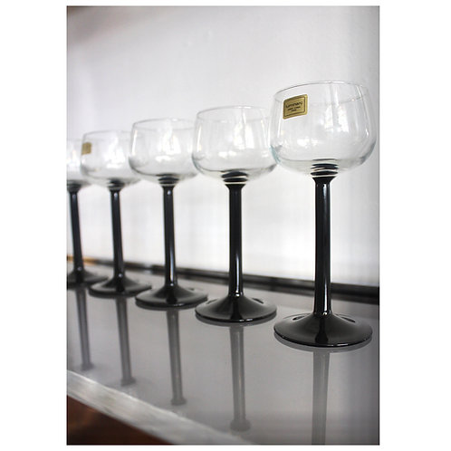 Luminarc Black Stem Wine Glasses