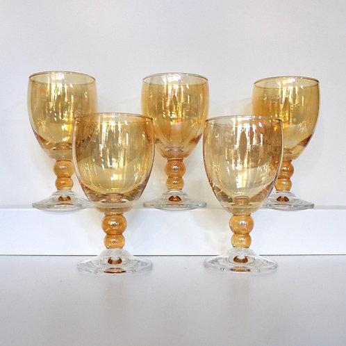 Vintage Peachy Orange Goblets
