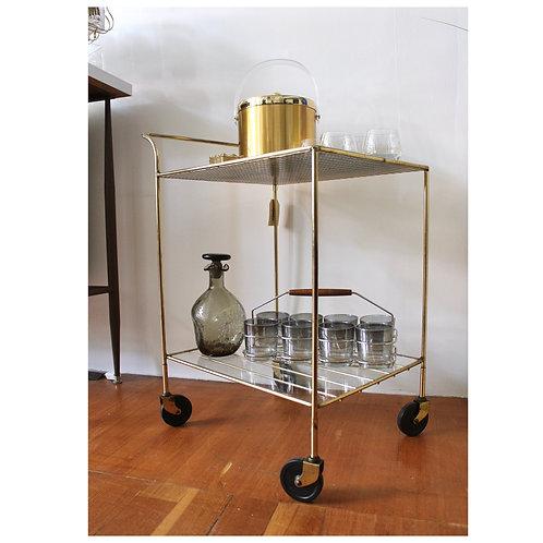 Gold + Glass Bar Cart