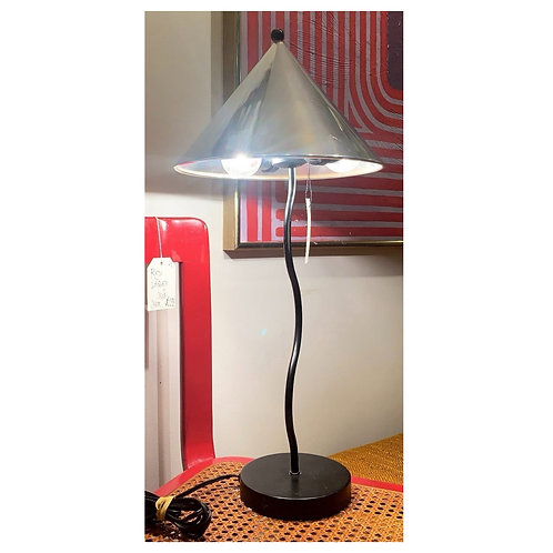 Vintage Squiggle Lamp with Metal Shade