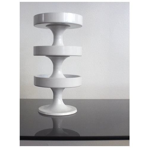 Set of 3 Mod Plastic Candle Holders