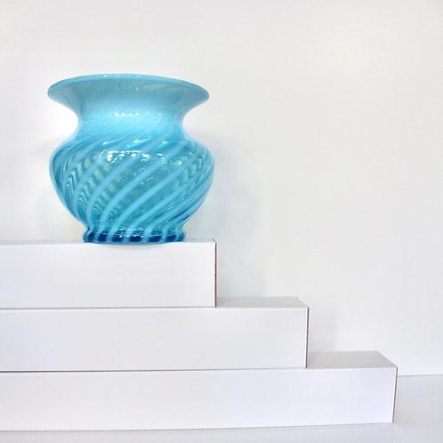 Vintage Blue SwirlGlass Vase