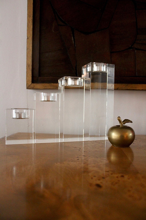 Tiered Crystal Tealight Holders