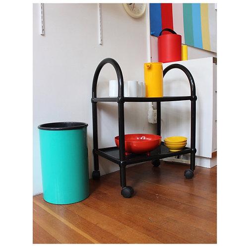 Black Tubular Plastic Rolling Cart