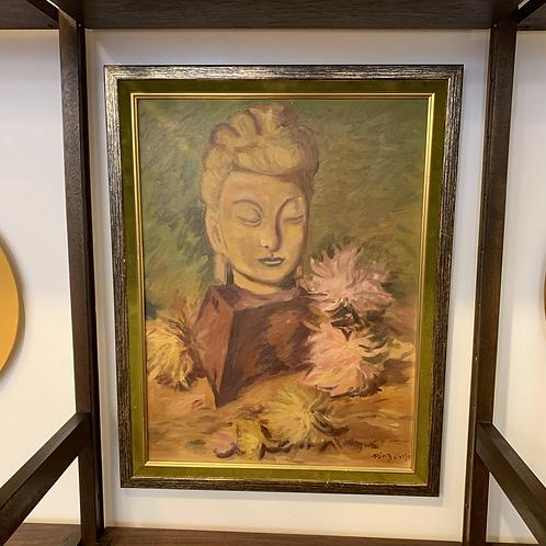 Buddha Bust Painting