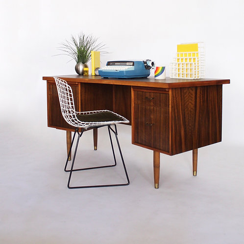 Mid Century Curved Desk