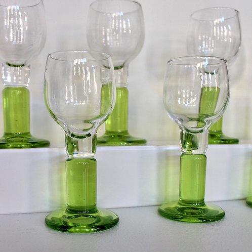 Green Italian Cordial Glasses