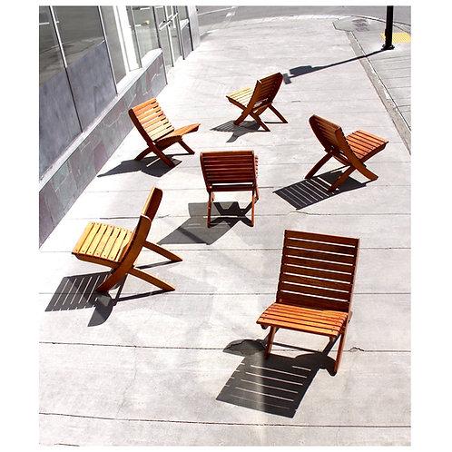 Vintage Redwood Deck Chairs