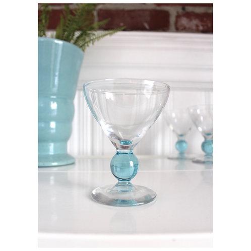 Vintage Blue Crystal Stems