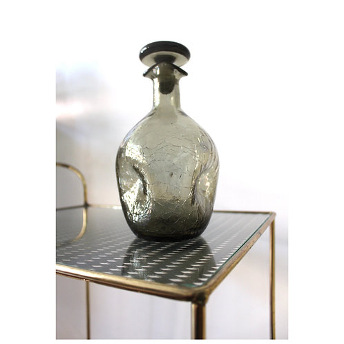 Blenko Crackle Glass Decanter