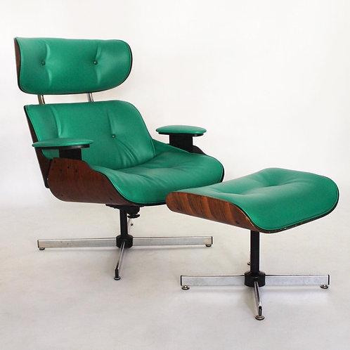 Green Vinyl Selig Lounge Chair