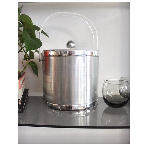 Plastic Silver Ice Bucket