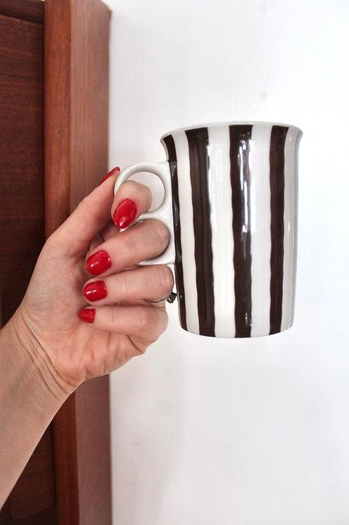 Brown Stripe 2 Finger Mug