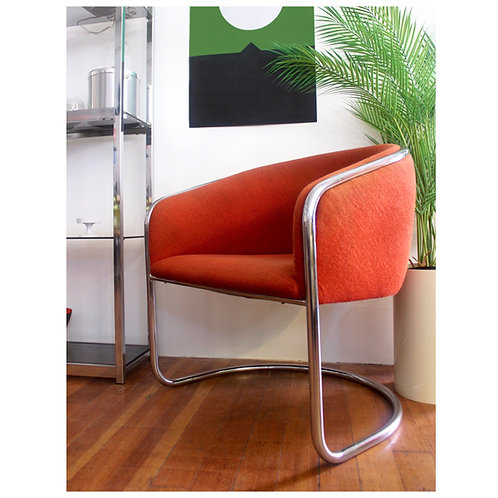 Vintage Orange Thonet Chair