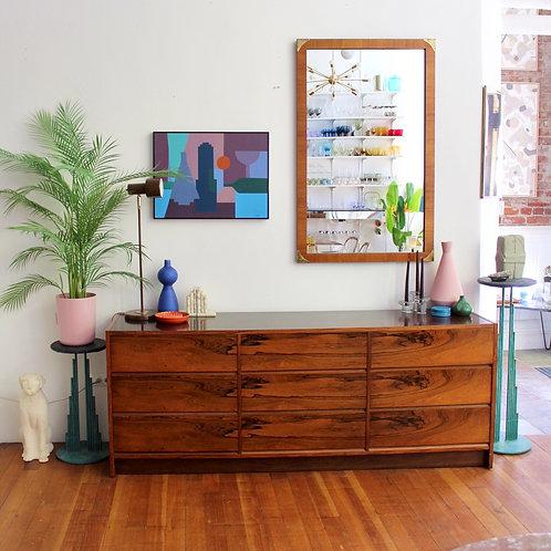 Rosewood 9-Drawer Lowboy Dresser