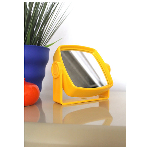 Vintage Double Sided Yellow Plastic Mirror