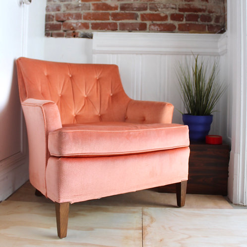Mid Century Pink Club Chair