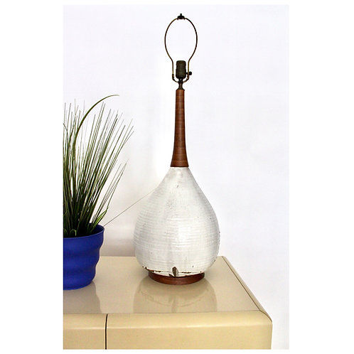 Large Mid Century Studio Pottery Lamp