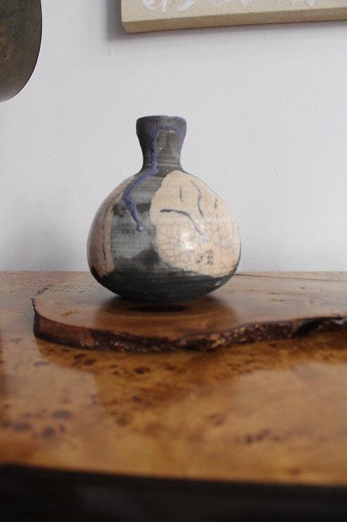 Studio Pottery Drip Glaze Vase