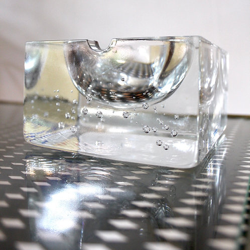 Crystal Glass Ashtray / Catchall by Nybro Sweden