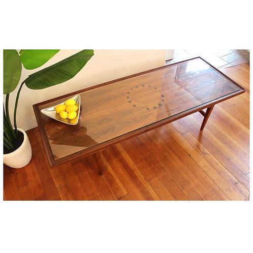 Mid century Walnut Drexel Coffee Table