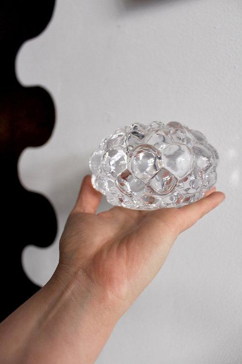"Crystal ""Raspberry""  Tea light Holder"