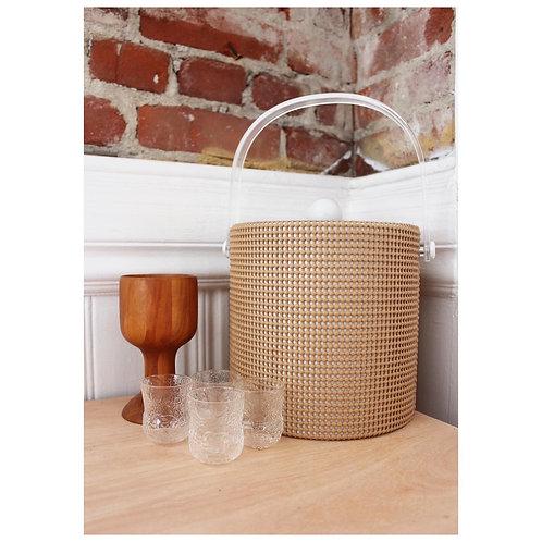 Vintage Rubber Texture Ice Bucket