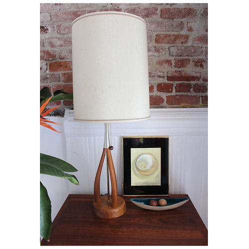 Mid Century Teak Sculptural Lamp