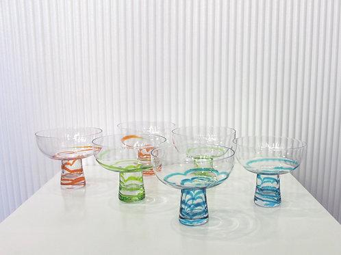Colorful Swirl Margarita Glasses