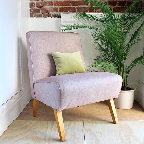 Vintage Vinyl Lounge Chair-Blush Pink
