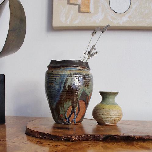 Vintage Studio Pottery Pinched Vase