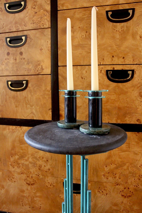 Post Modern Marble Candlestick Holders