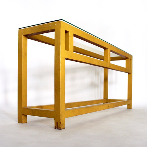 Hand Crafted Yellow Table
