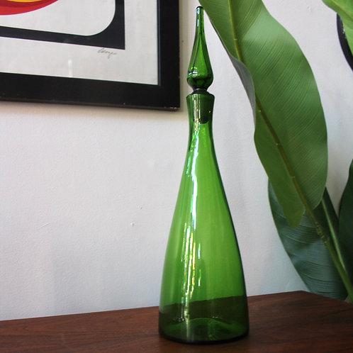 Vintage Green Genie Decanter