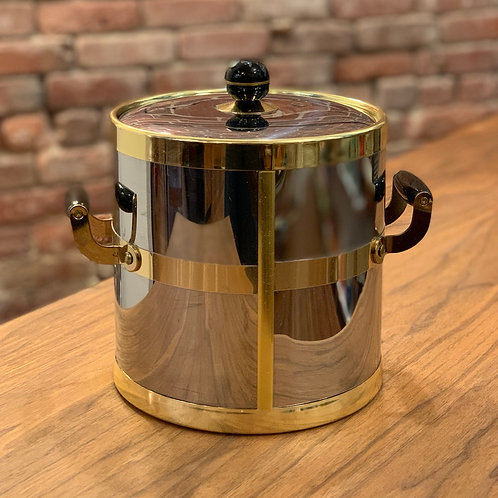 Vintage Brass and Silver Ice Bucket