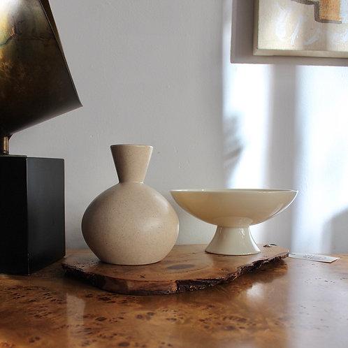 Vintage Beige Speckled Vase