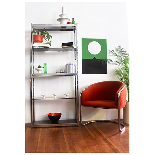 Chrome Shelf Unit