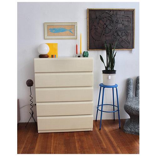 Vintage Cream Laminate Highboy Dresser By Lane