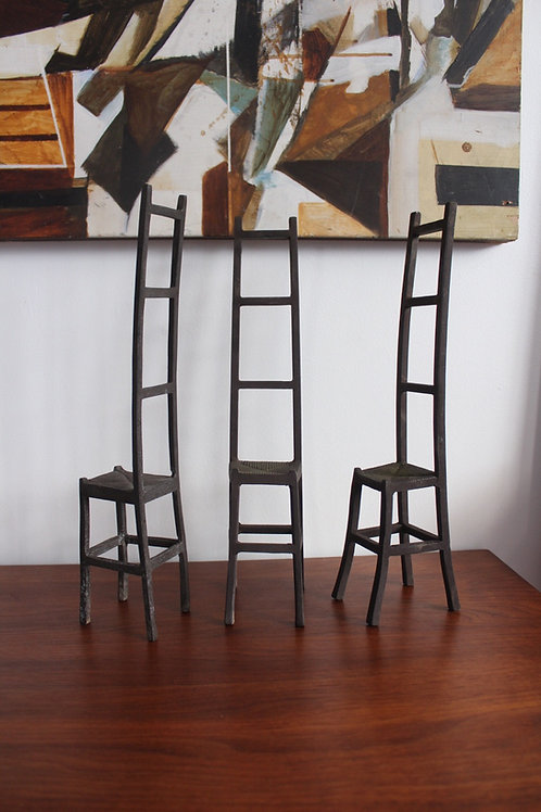Small Iron Sculptral Chairs